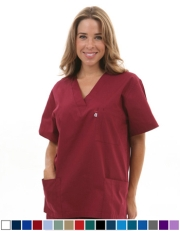 Unisex Solid Scrub Top - (3) Front Pockets  Style#  A100C (Clearance)