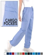 Unisex Pants with (2) Cargo Pockets - Full Elastic Waist with Drawstring Style# B300