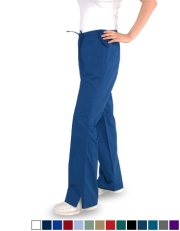 Flare  Pants, Half Elastic with Drawstring (3) Pockets - Petite Size Style# FP1C  (Clearance)