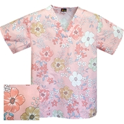 Printed V-neck Top - P1804 (Clearance)