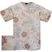 Printed V-neck Top - P1806 (Clearance)