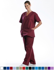 Unisex Scrub Set - 2 Pocket Top, 1 Pocket Pants Style# UX03SET (Special Sale)