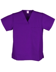 Unisex Solid Scrub Top - 1 Chest Pocket  Style# UXT01C (Clearance))