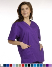 Unisex Solid Scrub Top - 2 Front Pockets Style# UXT02C (Clearance)