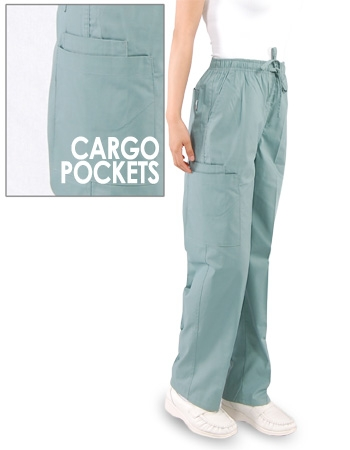 96ebb24bcc0 Unisex (1) Cargo Pocket Scrub Pants - Full Elastic Waist with Drawstring  Style# B200C