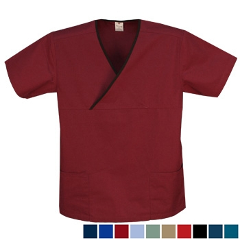 Crossover Trim Scrub Top - with 2 pockets Style# A10 (Special Sale)