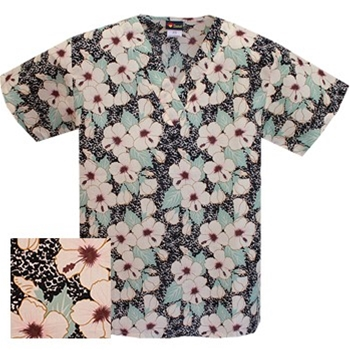 Printed V-neck Top - P1727 (On Sale)