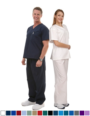 Unisex Scrub Set  - 1 Pocket Top, 1 Pocket Pants  Style# UX01SET (Special Sale)