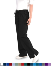 Flare Scrub Pants with Half Elastic (3) Pockets - Style# FR1