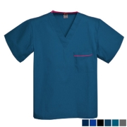 Pocket Trim Scrub Top - 1 Chest Pocket  Style# A20C (Clearance)