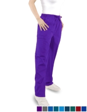 Unisex (5) Pocket Pants with (2) Cargo -  Full Elastic Waist with Drawstring  Tall Size B300T