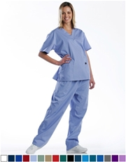Unisex Scrub Set - 2 Pocket Top, 3 Pocket Pants  Style# UX02SET (Special Sale)