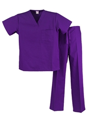 Unisex Scrub Set  - 1 Pocket Top, 1 Pocket Pants  Style# UX01SETC (Clearance Sale)