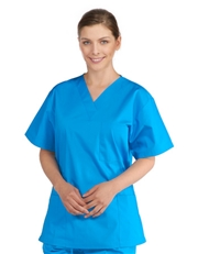 Unisex Solid Scrub Top - (3) Front Pockets  Style#  A100C (Clearance Sale)