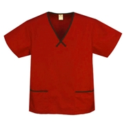 Star Trim Scrub Top - with 2 Trim Pockets Style# A11C  (Clearance)