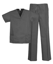 Unisex Scrub Set - 2 Pocket Top, 3 Pocket Pants  Style# UX02SETC (Clearance)