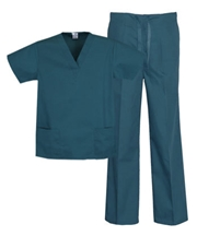 Unisex Scrub Set - 2 Pocket Top, 1 Pocket Pants Style# UX03SETC (Clearance)