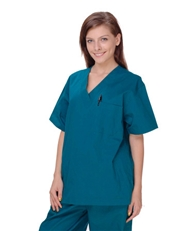 Unisex Solid Scrub Top - 1 Chest Pocket  Style# UXT01C (Clearance)