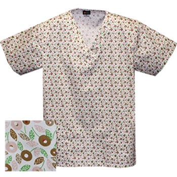 Printed V-neck Top - P8302 (On Sale)