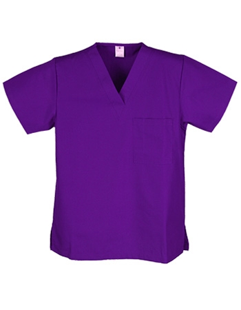 Unisex Solid Scrub Top - 1 Chest Pocket  Style# UXT01C (Clearance Sale)