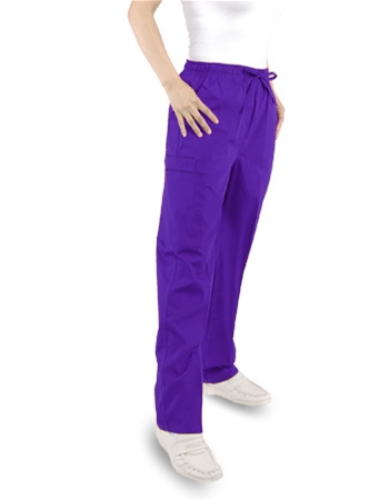 Unisex Pants (2) Cargo Pockets - Elastic with  Drawstring - Petite Size (Clearance)