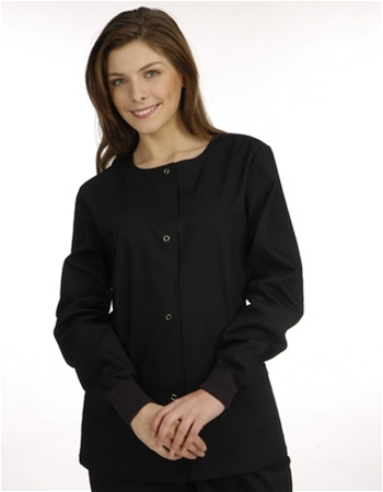 Solid Scrub Jackets with (2) Side Pockets Style # MSJ (Clearance Sale)